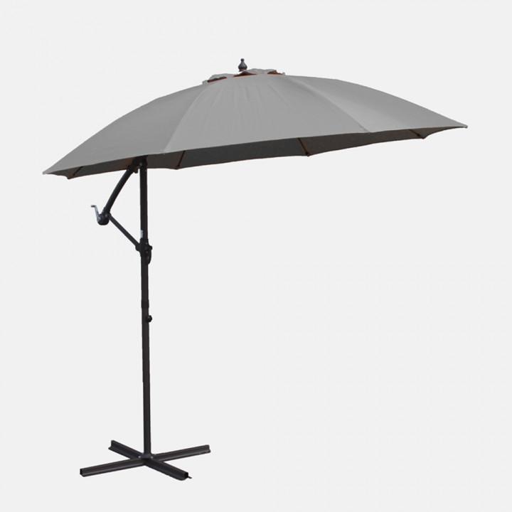 Cantilever parasol grey 3m
