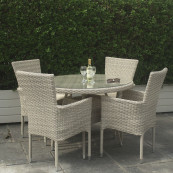 Alicante 4 seater stacking set
