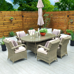 Chester 6 seater oval set