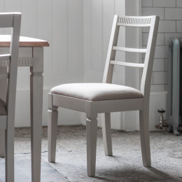 Bronte taupe dining chair