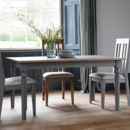 Rustic grey 5ft extending dining table