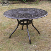 Fitzhenry 4 seat set with 122cm round table bronze
