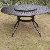 Fitzhenry 6 seat set with 150cm round table lazy susan bronze