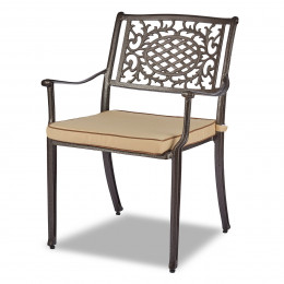 Lyon dark chair pad