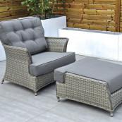 Bali armchair footstool cushions