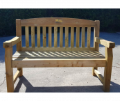 Wooden bench 2 seater