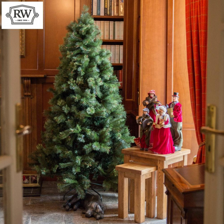 8ft rathwood premium bergin pine artificial christmas tree