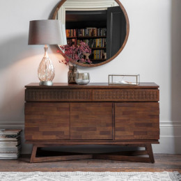 Boho retreat sideboard 3 dr 2 dwr