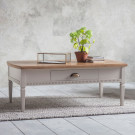Bronte taupe 1 drawer coffe table