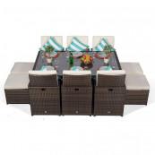 Giardina 6 seater cube set dark