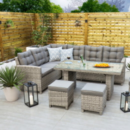 Oxford corner set with table dark