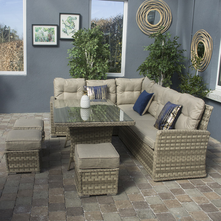Hampton casual sofa dining set