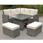 Rw corner rising dining set delux grey