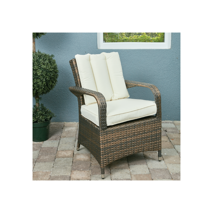 Rw 2 seat bistro set with square table dark brown