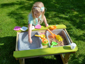 Kids picnic bench sand water table