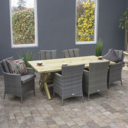 Marlow 6 seater set grey