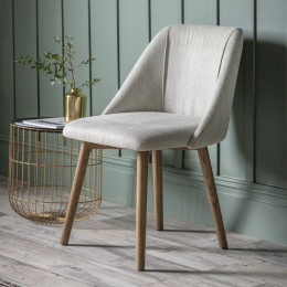 Modern elliot dining chair neutral