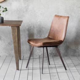 Modern hinks dining chair brown