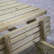 Wooden picnic bench 1 8m