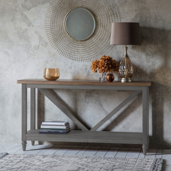 Rustic grey console table