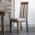 Rustic oak dining chair