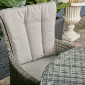 Sicily 4 seat set with 100cm round table light grey
