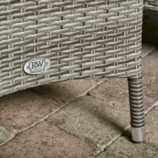 Sicily 8 seat set with 165cm round table lazy susan light grey