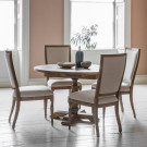 Vintage round extending dining table