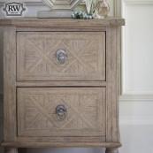 Vintage 2 drw bedside locker