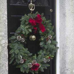 Handmade real christmas wreath