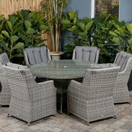 Yale 6 seater dark round set