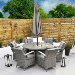 Giardina 6 seater set with ice bucket