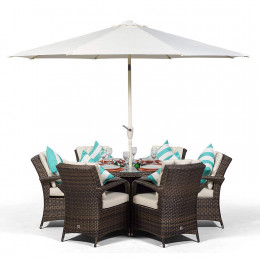 Giardina 6 seater dark set with ice bucket