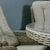 Hampton 6 seat set with 135cm round table sand colour cushions