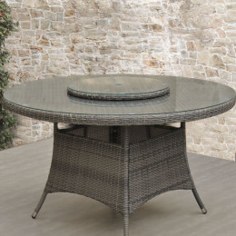 155cm round dining table rw with lazy susan