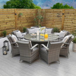 Giardina 8 seater set with lazy susan