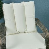 Rw 8 seat set with 155cm round table ice bucket cream cushions