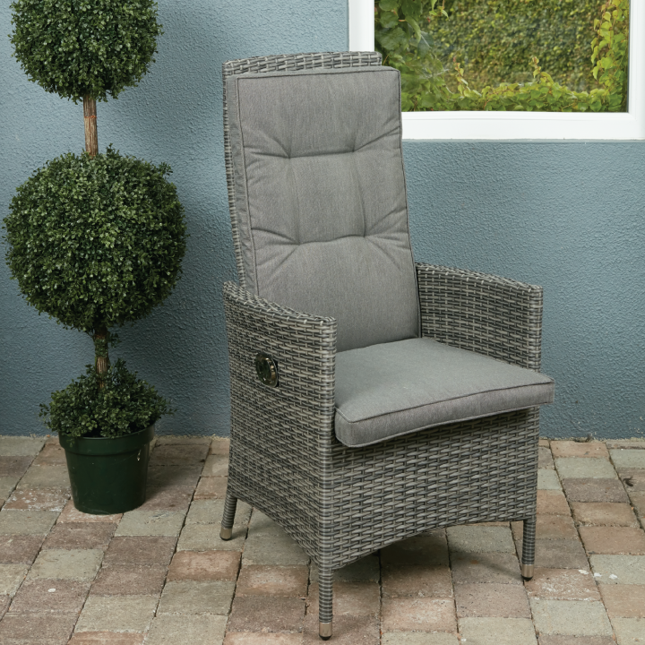 Rw 8 seater round reclining set with lazy susan