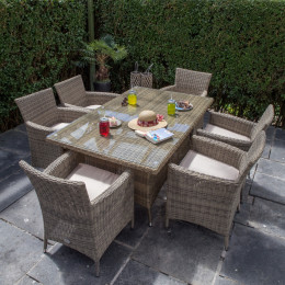 Dumont 6 seater rectangle set