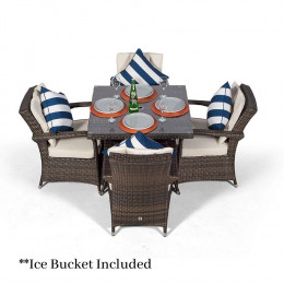 Giardina 4 seater set with ice bucket dark