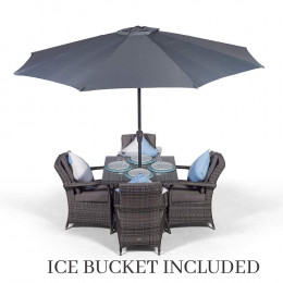 Giardina 4 seater set with ice bucket