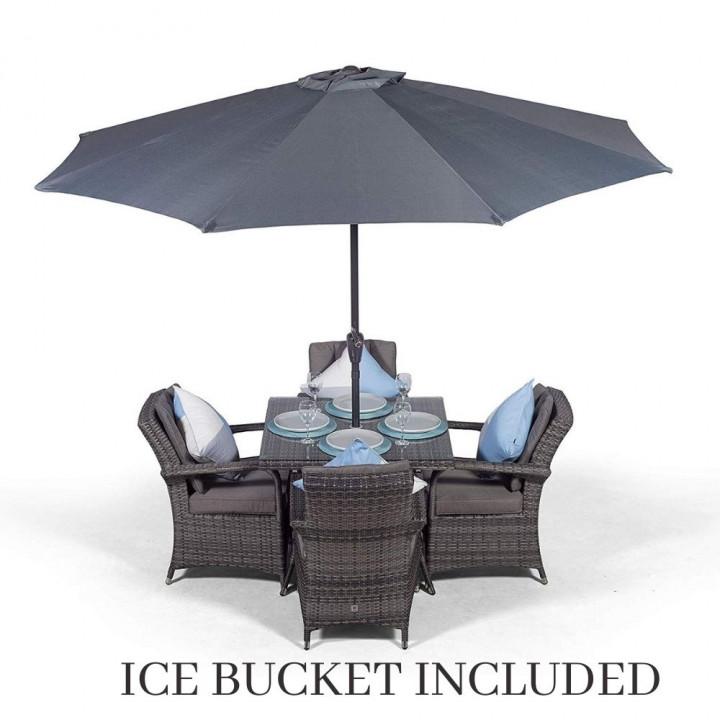 Giardina 4 seater set with ice bucket