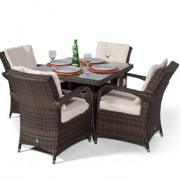 Giardina 4 seater square set dark