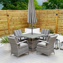 Giardina 4 seater set square