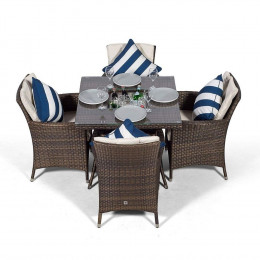 Sahara 4 seater set with ice bucket dark