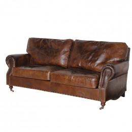 Ex display vintage leather 3 seater sofa