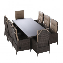 Milan 8 seater rectangle set