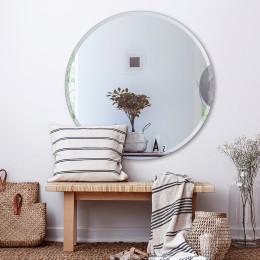 Round mirror silver 80cm