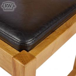 Black leather pad