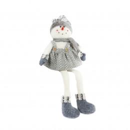 70cm sitting snowlady silver grey